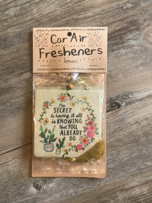 Car Air Freshener The Secret To Having It All