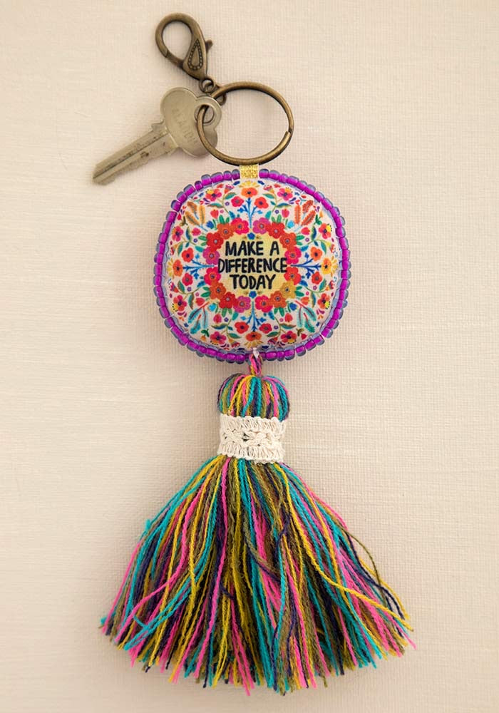 Mantra Keychain Make A Difference - Front Porch Boutique