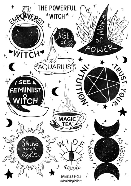 The Powerful Witch - Sticker Sheet