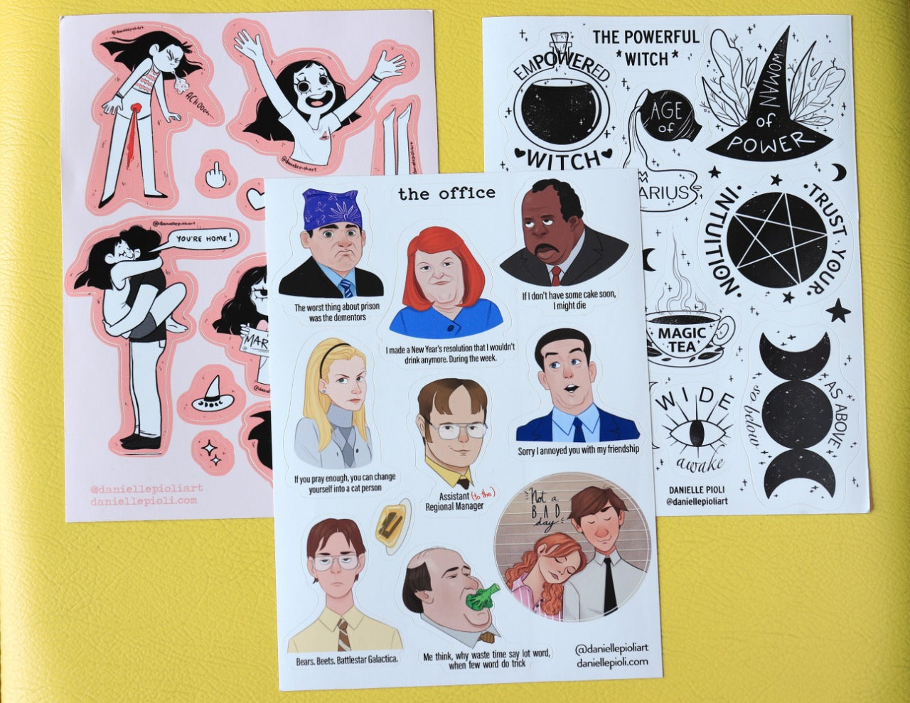 Stickers Kit - The Office + Witch + Comic