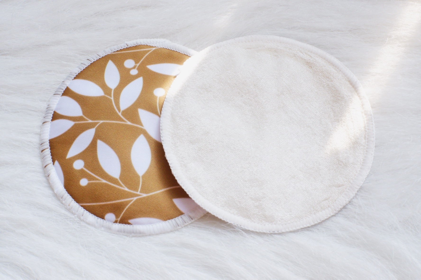 White Dahlias Bamboo Breast Pads