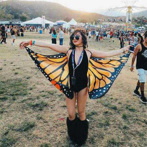 Honana WX-90 Butterfly Wing Bohemian Chiffon Beach Women Shawl Skirt Beach Decor Tapestry