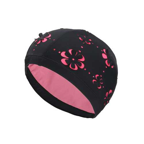 Protection Ears Long Hairs Lady Swimming Hat