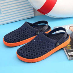 Men Rings Pattern Outdoor Beach Sandal Slippers