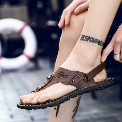 Men Comfortable Two Way Wear Clip Toe Slippers Sandals
