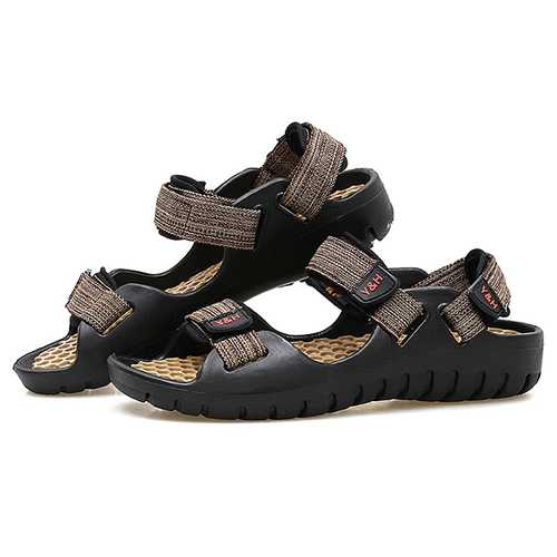 Men Soft Sole Beach Breathable Hook Loop Sandals