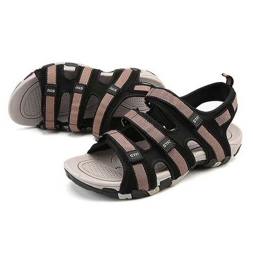 Men Comfy Breathable Adjustable Band Hook Loop Sandals