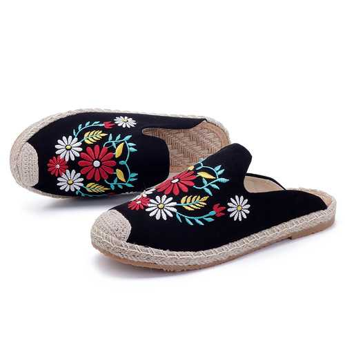 Embroidery Flower Chinese Style Women Folkways Sandals