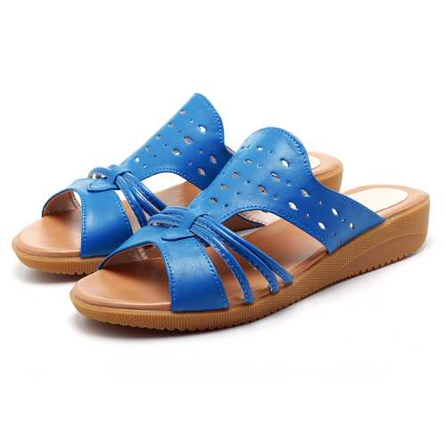 Women Soft Flat Hollow Out Casual Comfortable Sandals