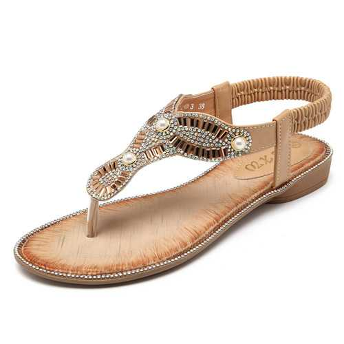 Bohemian Women Beach Flip Flops Casual Sandals