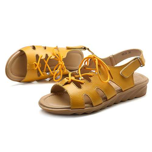 Comfy Casual Sandals Lace Up Women Shoes
