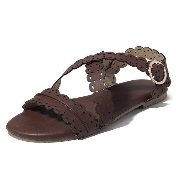 US Size 5-11 Women Flat Open Toe Roman Sandals