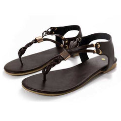 US Size 5-12 Women Casual Soft  Metal Beach Sandals