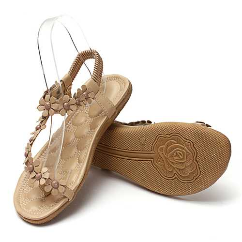 Trendy Womens New Punk Style Flowers Shape Splice Lovely Summer Sandals Strappy