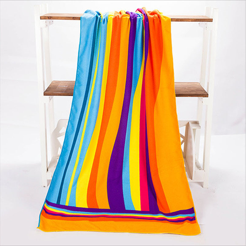 70x140cm Absorbent Microfiber Beach Towels Creative Design Print Quick Dry Bath Towel