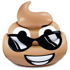 5.5-foot Dreamy Deuce Poop Emoji Pool Float