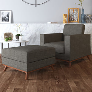 Archer Accent Chair and Ottoman - SunHaven Home