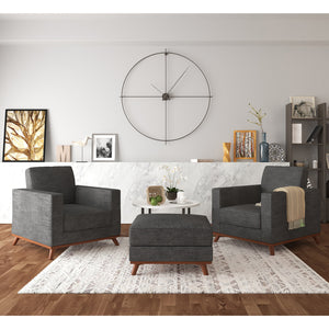 Archer Accent Chairs and Ottoman - 3 piece set