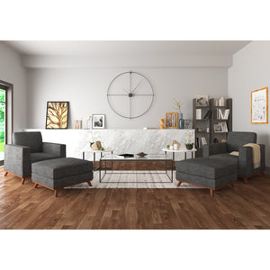 Archer Accent Chairs and Ottomans - 4 piece set - SunHaven Home