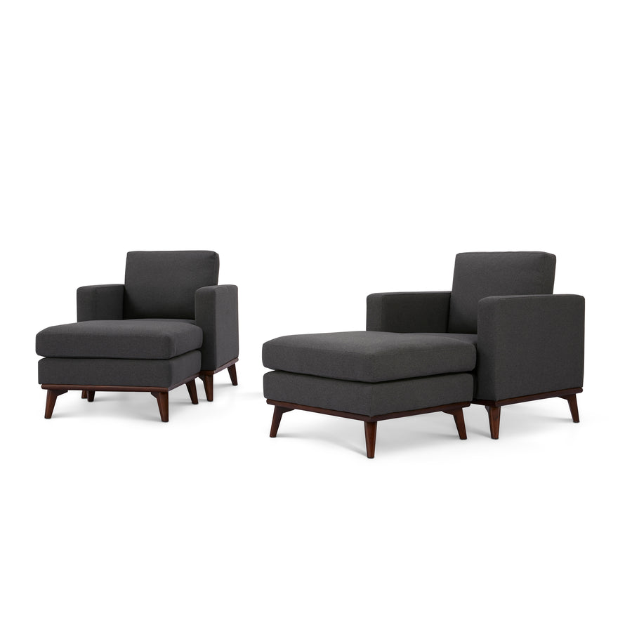 Archer Accent Chairs and Ottomans - 4 piece set