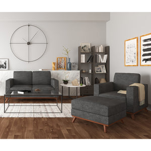 Archer Loveseat, Chair and Ottoman Living room set - SunHaven Home