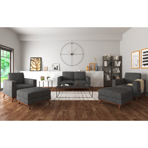 Archer Loveseat, 2 Chairs and 2 Ottomans Living room set