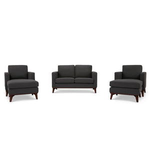 Archer Loveseat, 2 Chairs and 2 Ottomans Living room set - SunHaven Home
