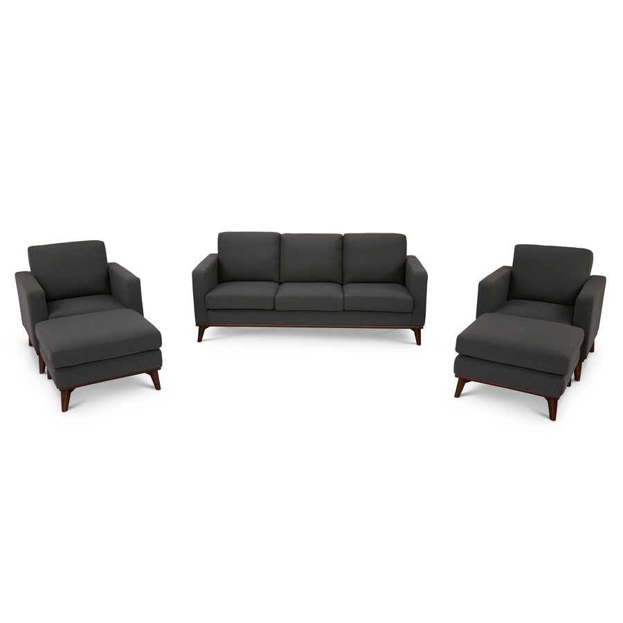 Archer Sofa, 2 chairs and 2 ottomans living room set - SunHaven Home