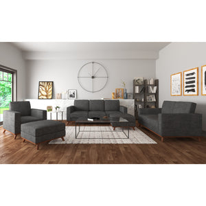 Archer Sofa, Loveseat, Chair and 2 ottomans living room set
