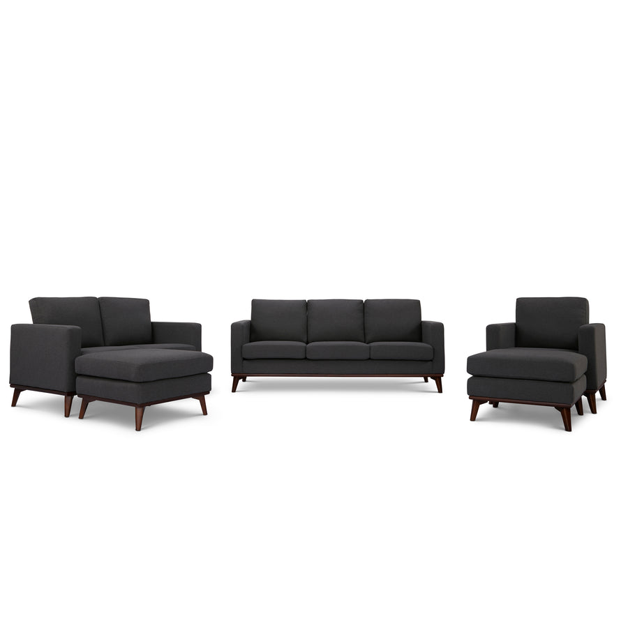 Archer Sofa, Loveseat, Chair and 2 ottomans living room set - SunHaven Home