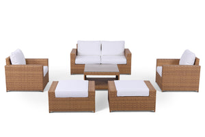 Seabrook 7 Piece Outdoor Wicker Sofa Set