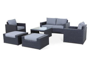 Cascade 7 Piece Sofa Set with Sunbrella Cushions