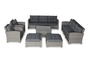 Stamford Grey 11 Piece Large Sofa Set