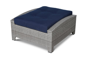 Stamford Navy Outdoor Wicker Ottoman