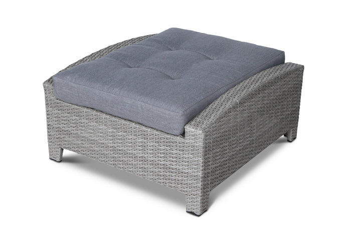 Stamford Grey Outdoor Wicker Ottoman