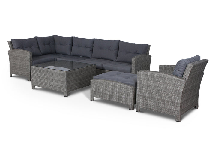 Stamford Grey 8 Piece Sectional Set