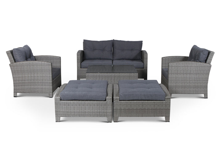 Stamford Grey 7 Piece Loveseat Set
