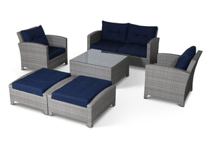 Stamford Navy 7 Piece Loveseat Set