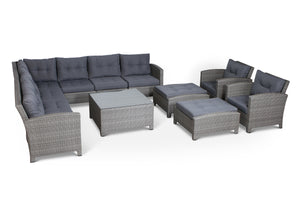 Stamford Grey 12 Piece Conversation Set