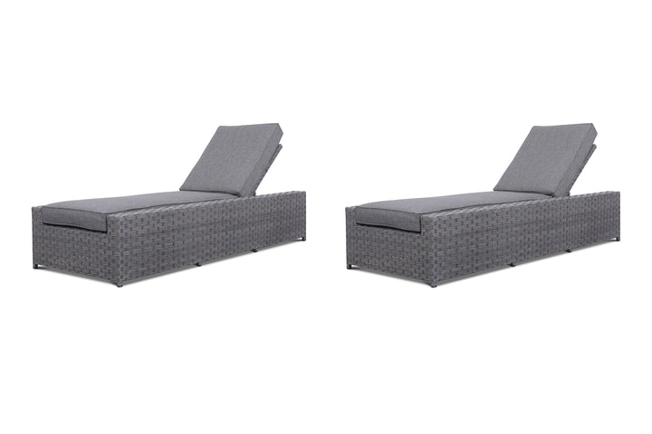 Cromwell 2 Piece Set Outdoor Wicker Adjustable Chaise Lounges