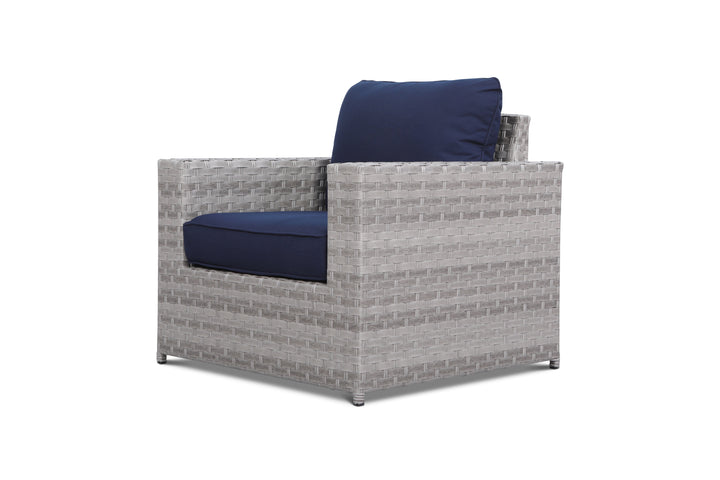 Kensington Navy Outdoor Wicker Club Chair