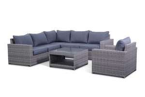 Kensington Grey 7 Piece Outdoor Sectional Set