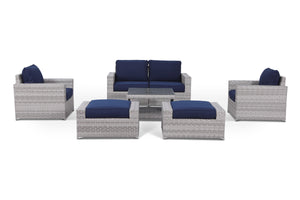 Kensington Navy 7 Piece Conversation Set