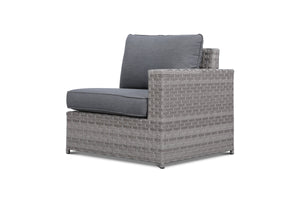 Kensington Grey 9 Piece Outdoor Conversational Sofa Set