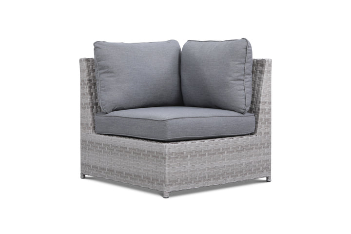 Kensington Grey Outdoor Wicker Corner Chair