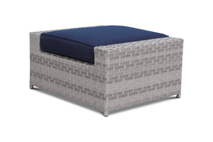 Kensington Navy Outdoor Wicker Ottoman