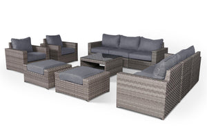 Kensington Grey 11 Piece Large Sofa Set