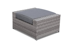 Kensington Grey Outdoor Wicker Ottoman