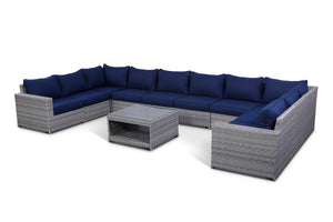 Kensington Navy 11 Piece Outdoor Large Modular Sectional Set
