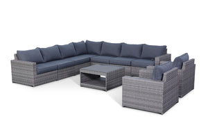 Kensington Grey 10 Piece Large Sectional Set